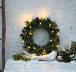 Adventskranz-Tuerkranz-Tannenkranz-Weihnachtskranz-Batterie-20-LED-50-cm-innen