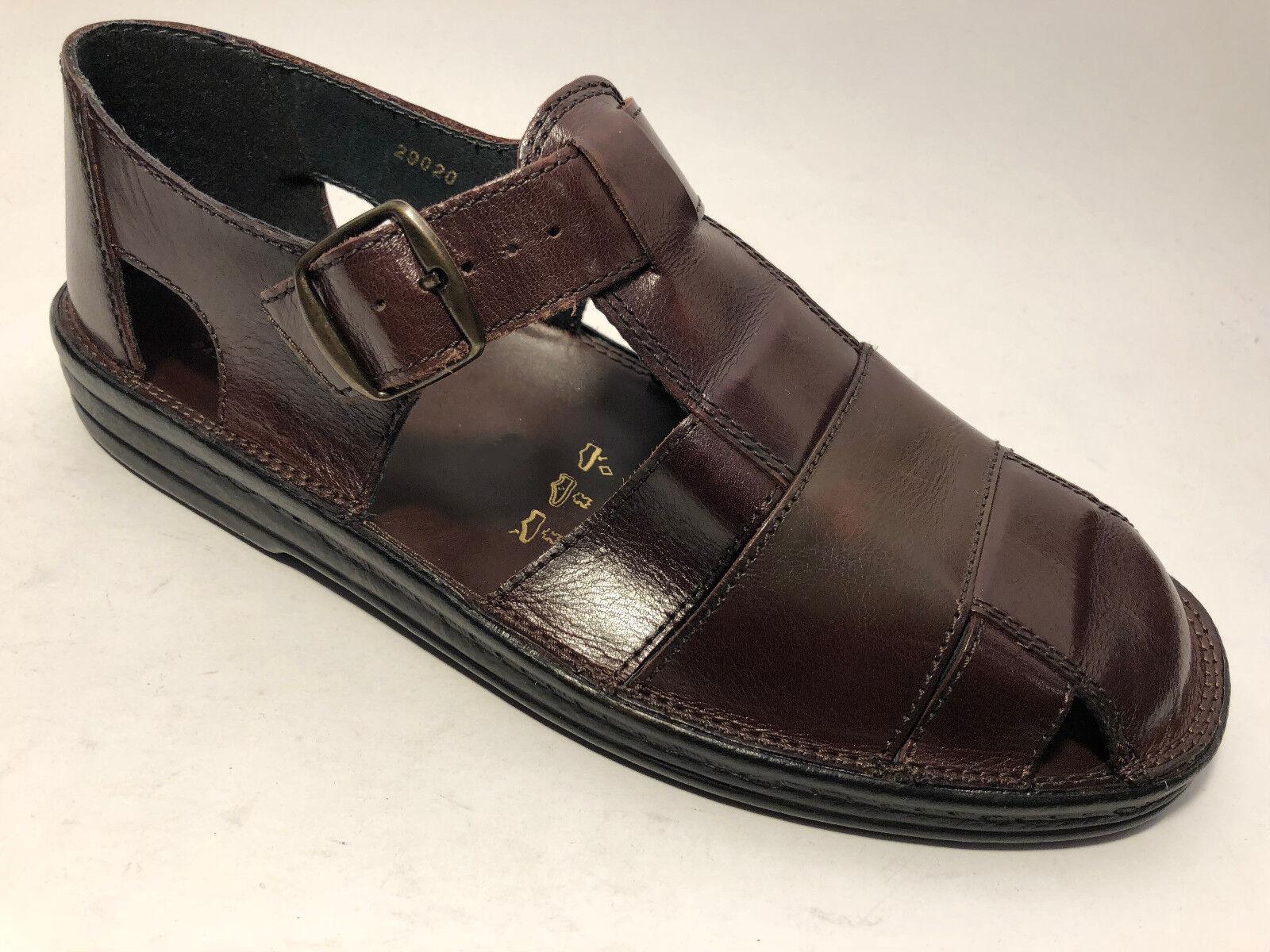 Sioux Herren Schuhe  Leder Sandalen Gr.47,5 (Gr 12,5) Braun Weite G Luftpolster