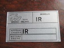 Tipos de escudo plate escudo Iso Rivolta GT grifo Lele s4 Fidia a3c targhetta infrarrojos s27