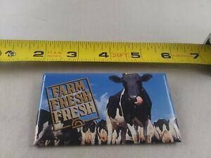 Vintage FARM FRESH FRESH Dairy Cow Holstein pin button pinback *EE73
