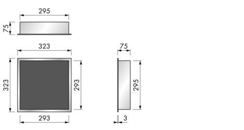 ESS Container Wandnische 30x30x7 cm Fliesennische Dusche Edelstahl Accessoires