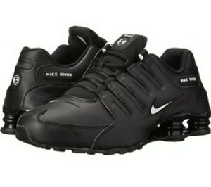 wholesale dealer 8003a 390e4 Details about Mens Nike Shox NZ Size 11.5 Black Leather with White logo
