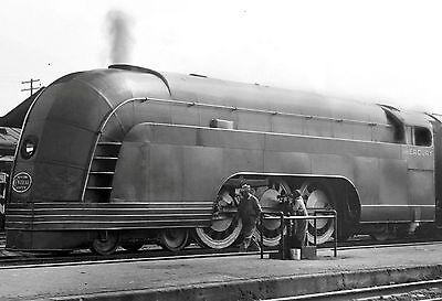 1936 MERCURY STREAMLINER STEAM LOCOMOTIVE TRAIN 8X10 PHOTO NEW YORK CENTRAL RAIL