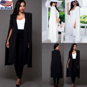 Women-Long-Poncho-Cape-Coat-Jacket-Blazer-Suit-Shawl-Plus-Cloak-Cardigan-Outwear