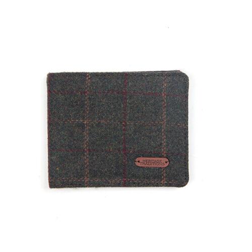 Heritage tradizioni da uomo GREEN BOX Tweed Wallet Regalo Matrimonio Business