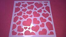 Reusable HEART Home Decor Scrapbooking Album Craft Stencil Airbrush Painting UK