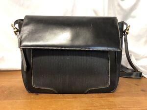 a1d4156adc Image is loading Vintage-Authentic-Salvatore-Ferragamo-Black-Leather- Stitched-Shoulder-