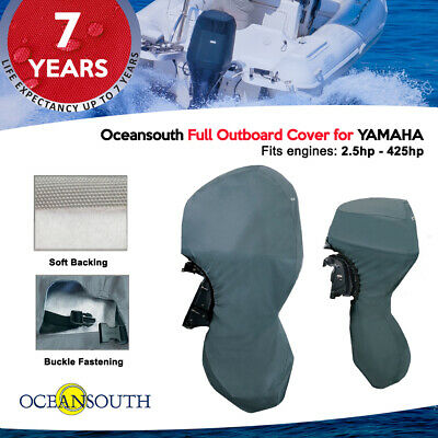 Oceansouth Full Outboard Motor Engine Cover Grey Fits Motors from 30hp to 100hp