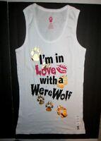 Jerry Leigh Womens White Werewolves Tank Top Shirt Junior Size Xl 15/17