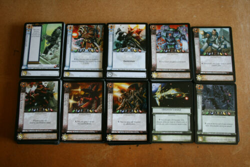 Warhammer 40k Horus Heresy CCG Dropsite Massacre Common cards 10 cards per lot