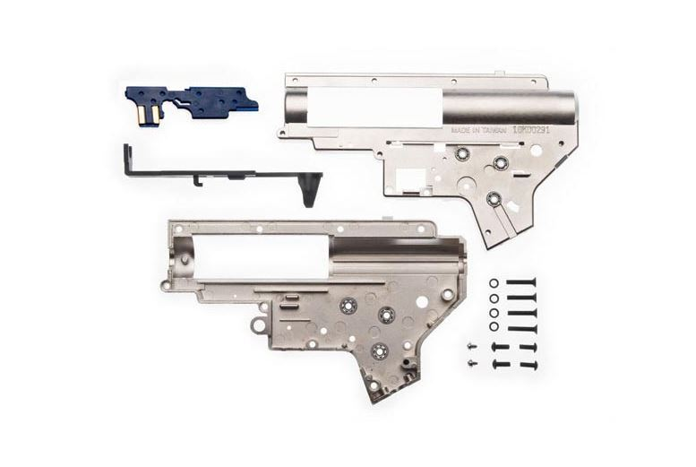 AIRSOFT AEG LONEX 8MM VERSION 2 GEARBOX GEARBOX GEARBOX FOR G3 CHROMIUM PLATED UK DELIVERY asg 4fcbc4