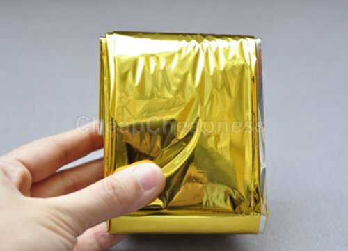 Gold Emergency Solar Survival Blanket Safety Insulating Mylar Thermal Heat/_TI