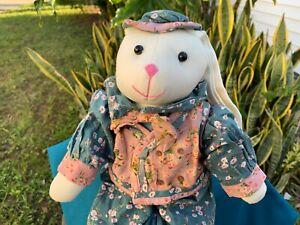 Black bunny Bunny Rabbit soft cloth doll Bunny doll in clothes
