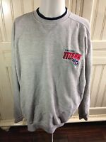 90's NFL Tennessee Titans Mens Screen Thermal Long Sleeve T-Shirt Large Gray