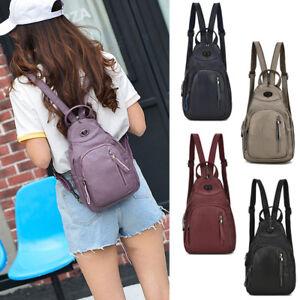 Convertible-Faux-Leather-Small-Mini-Backpack-Rucksack-Sling-bag-Purse-Cute-Bag