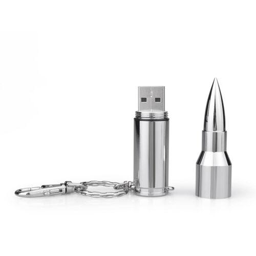 Cool Metal Bullet Model 32GB USB 2.0 Flash Drive Flash Memory Stick Thumb Drive