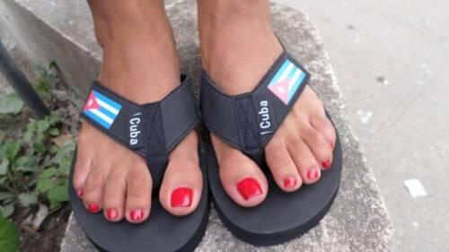 Olympic swimmer flip flops//sandal Cuba flag adult women//men High Quality 6//7