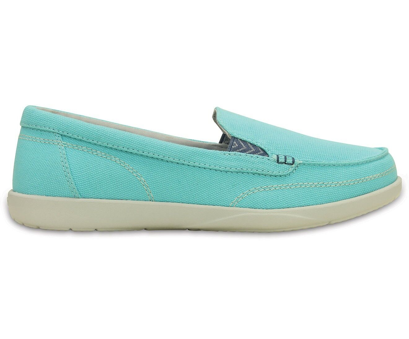 Crocs Walu II Canvas Loafer Ice Blau/Pearl WEISS
