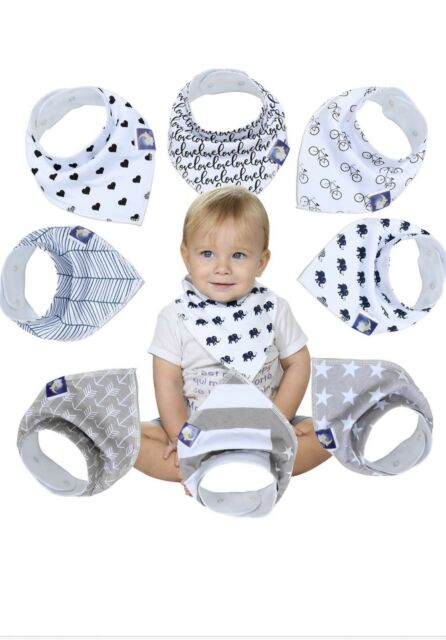 Organic Baby Bandana Drool Bibs for Drooling and Teething 100/% Soft Cotton