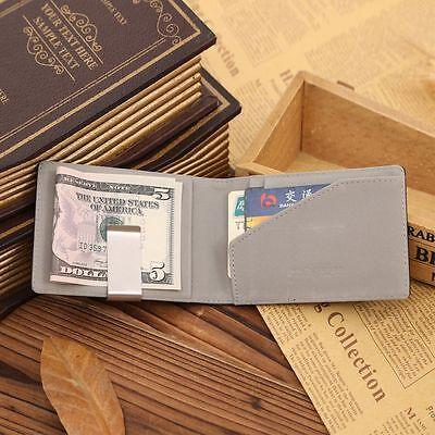 Holder Ultra-thin Purses Fashion Cash Clamp Men's Purses Wallets Money Clip