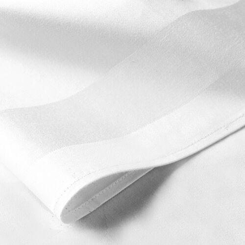 mantelesTamaño 54 X 70Blanco Banda de raso 100/% algodón egipcio toallas