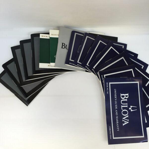 Gewissenhaft Bulova 100% Original Uhr Anweisungen Manuel Buch Guide Und Garantie AusgewäHltes Material