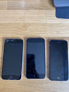 Lot X3 iPhone 6 16Go, Écran Cassé Touch ID Ok