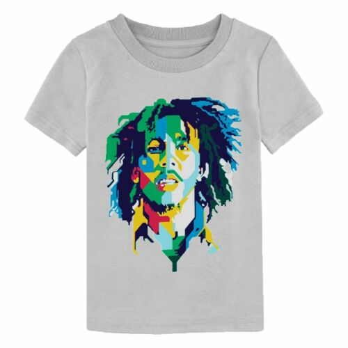 Bob Marley T Shirt Legend Ganja Reggae Birthday Gift Youth Boy Girl Kids Top