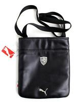 NEW PUMA PREMIUM FERRARI PORTABLE SHOULDER MAGAZINE MESSENGER BAG BLACK PMMO2021