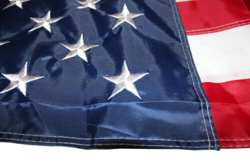 Size 90x150 cm New US FLAG EMBROIDERED Stars USA Drapeau Avec 50 brodee étoiles
