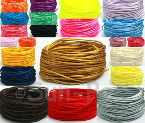 Cable anudado chino Raso Cola de rata Sedoso Cuerda Macramé Jewlery 1.5mm 5m-50m