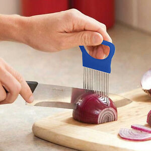 Hot-Stainless-Steel-Onion-Holder-Slicer-Tomato-Cutter-Home-Kitchen-Tools-New