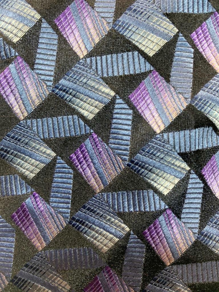 XMI Nordstrom Schwarz Schieferblau Geometrisch Seide Krawatte MAP1521B #R23
