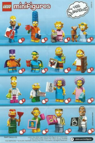 LEGO Collectable Minifigure The Simpsons Series 2 Leaflet ONLY 1 Supplied