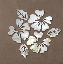 Spiegelsticker Spiegeloptik Spiegel Wandtattoo Wandsticker Blumenmotiv stylisch