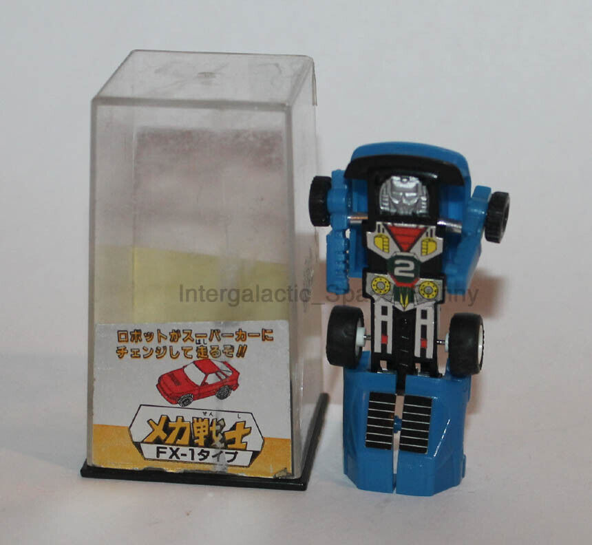 1984 Takara Transformers Mini Spion FX-1 Mini-Spies ReFarbe & Aufkleber Microman