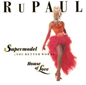 RuPaul-Maxi-CD-Supermodel-You-Better-Work-House-Of-Love-USA-EX-VG