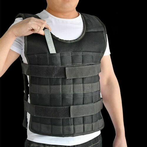 Weighted Vest Adjustable 5kg 20kg 60kg Loading Exercise Boxing Training