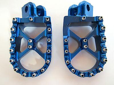 Warp 9 Billet Footpegs Blue Husaberg TE 250 300 FE 350 501 570 650 2008 - 2014