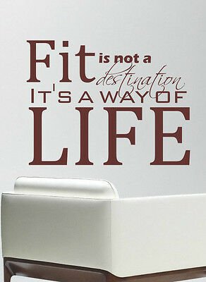 FIT GYM.. MOTIVATIONAL SPORT QUOTE WALL ART DECAL STICKERS VINYL ROOM BEDROOM