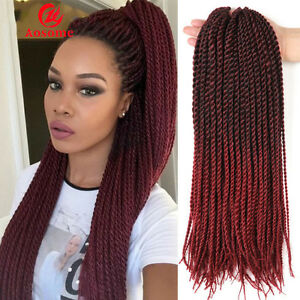 Black red hair ombre