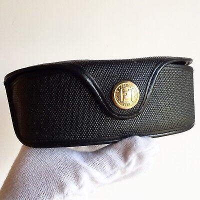Accurato Fodero Occhiali Da Sole Vista Fendi Box Sunglasses Custodia Nera Case Black Gold Brividi E Dolori
