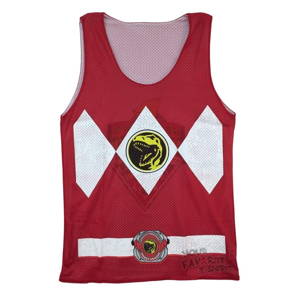 Power Rangers Red Ranger Symbol Costume Reversible Mesh Tank Top