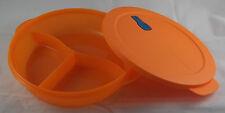 Tupperware Crystal Wave Mikrowellengeschirr 1,9 l 3-Geteilt rund Orange Neu OVP