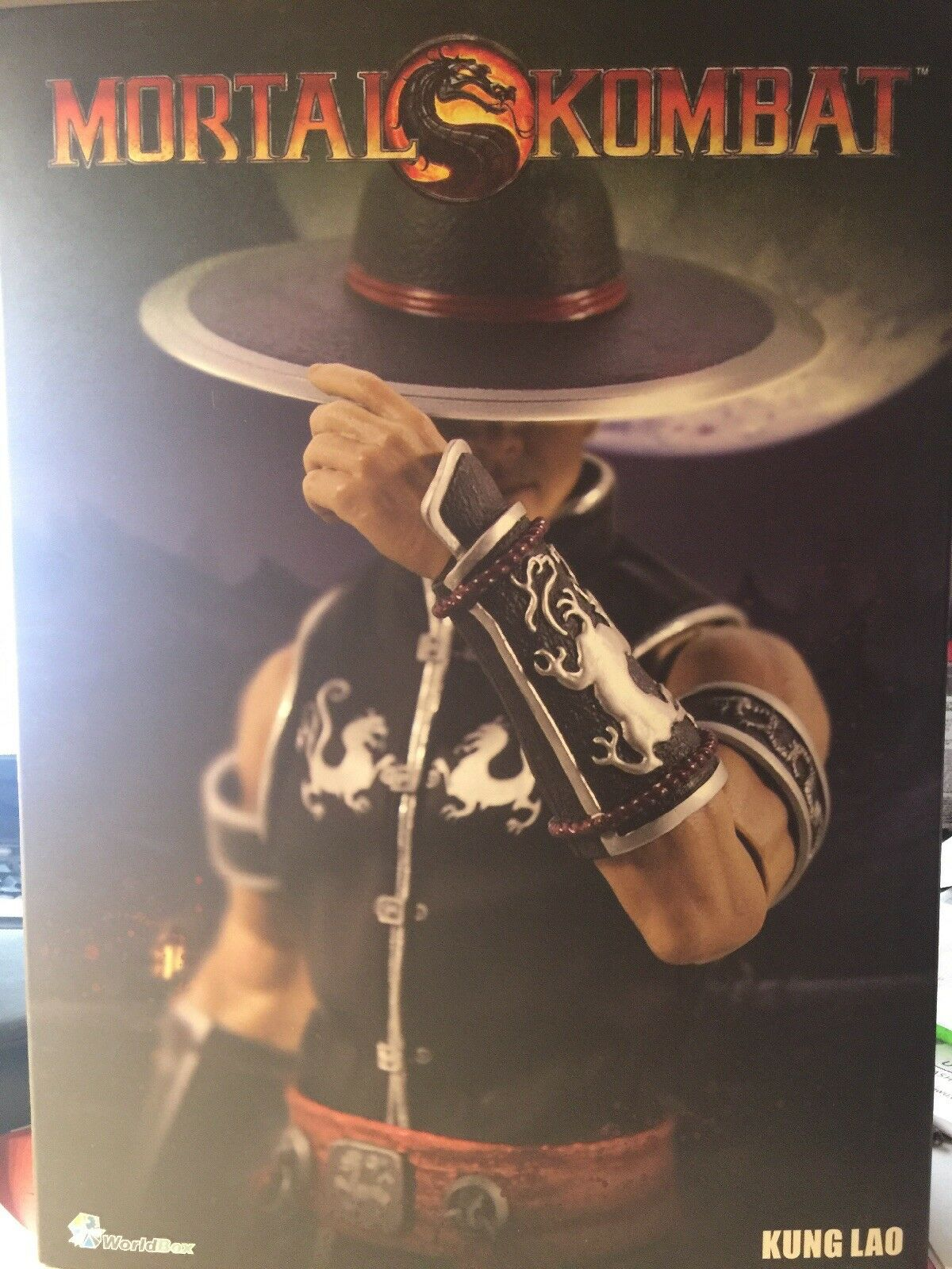 New unopened WORLDBOX MORTAL KOMBAT KUNG LAO 1 6 scale Action figure
