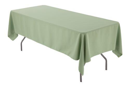 "60/"" x 102/"" Rectangular Tablecloth Seamless For Wedding Restaurant Banquet Party"