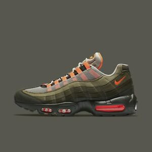 afe3d761405 Nike Air Max 95 OG String Total Orange Neutral Olive 2018 Men s ...