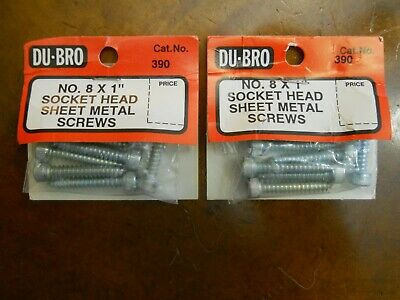 "NEW IN PKG DUBRO #389 #8 x 3//4/"" SOCKET HEAD SHEET METAL SCREWS 2 PKGS OF 8"