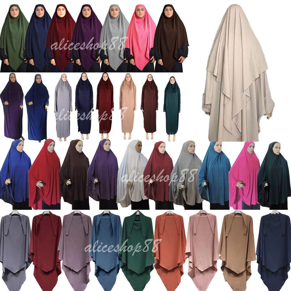 Muslim Women Prayer Dress Long Scarf Hijab Islamic Large Overhead Clothes Jilbab