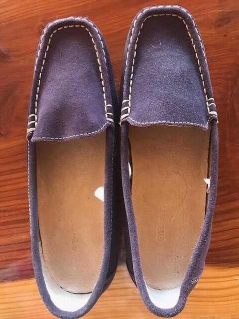 Purple Leather shoes - Loafers